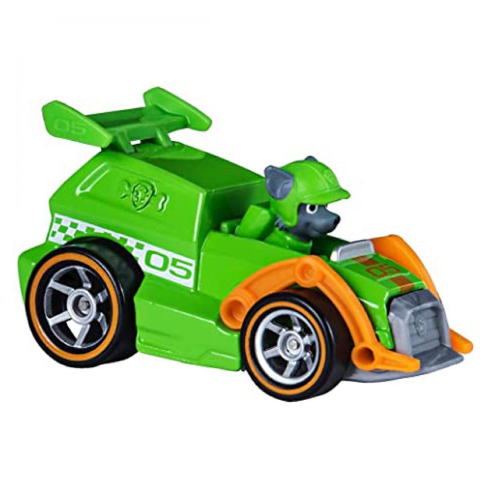 La Patrulla Canina Vehículo y Figura con Sonidos Race & GO - Rocky