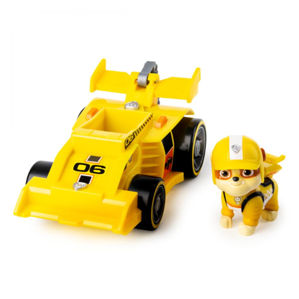 La Patrulla Canina Vehículo y Figura con Sonidos Race & GO - Rubble