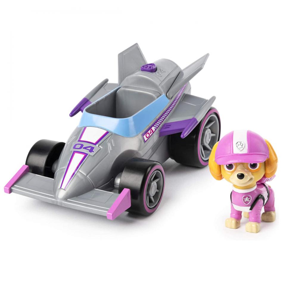 La Patrulla Canina Vehículo y Figura con Sonidos Race & GO - Skye