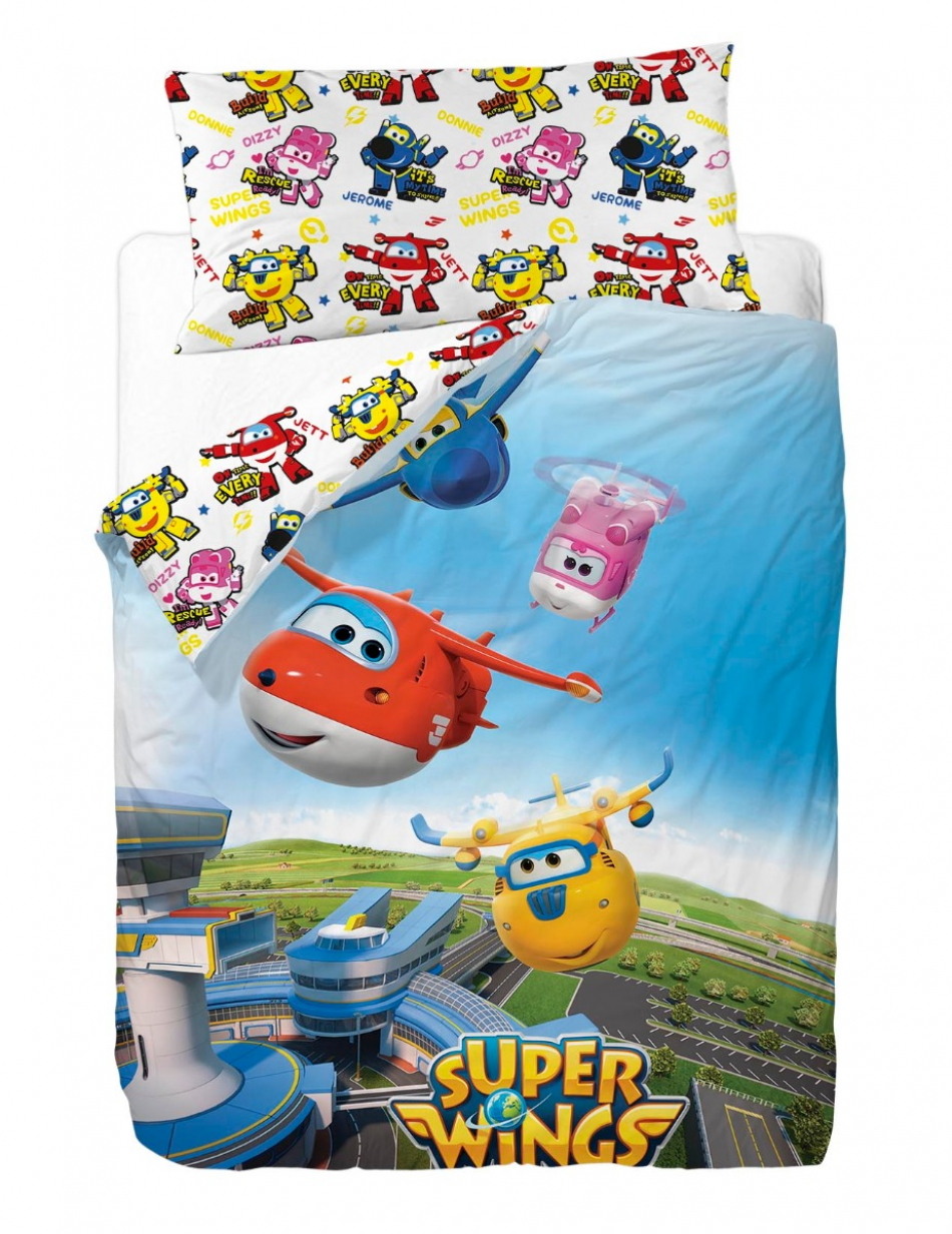 Juego de funda nórdica para cama de 90 cm con 3 piezas Super Wings