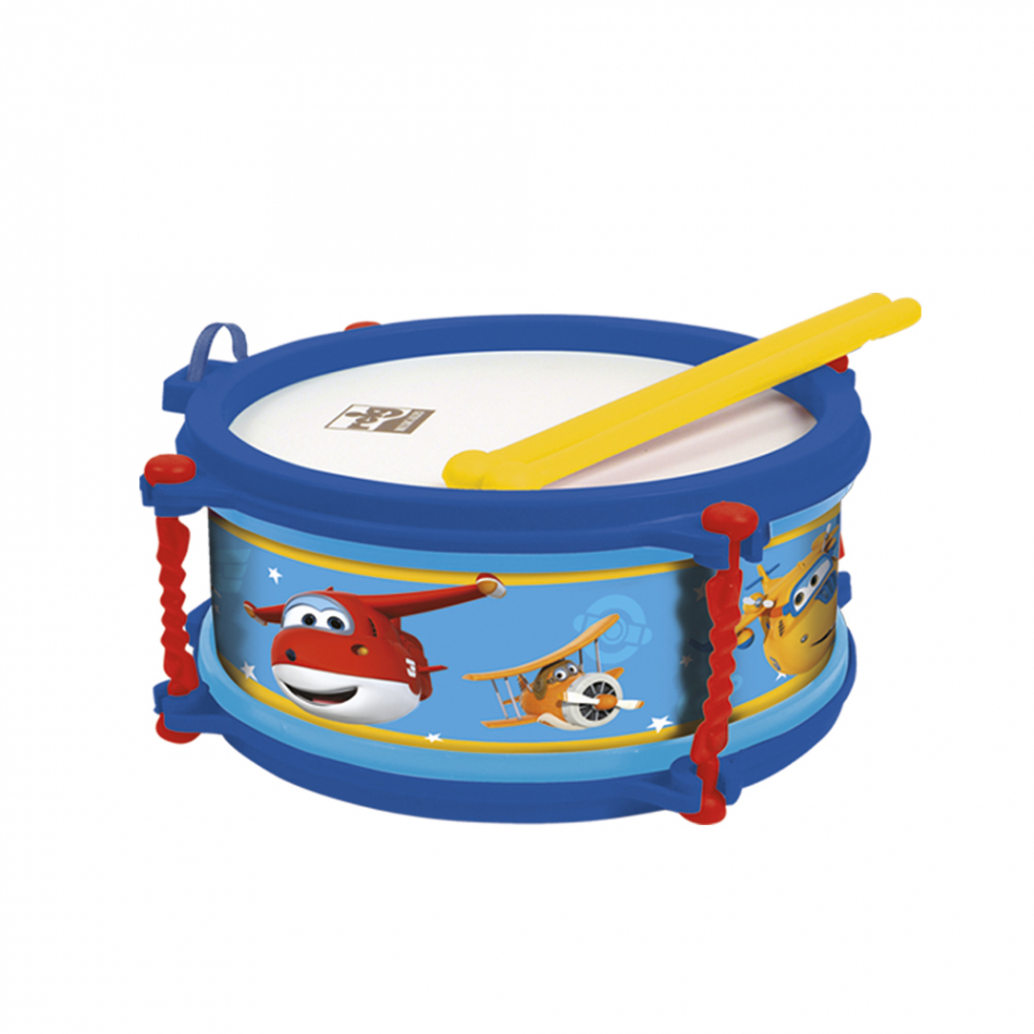 Tambor 16 cm en estuche Super Wings
