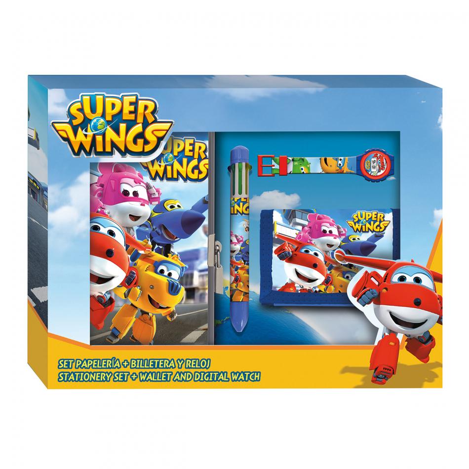 Set papelería lenticular Super Wings