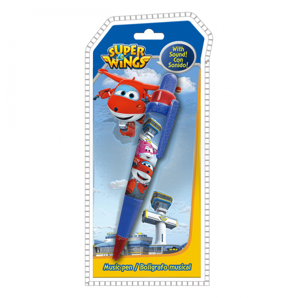 Bolígrafo musical en ingles Super Wings