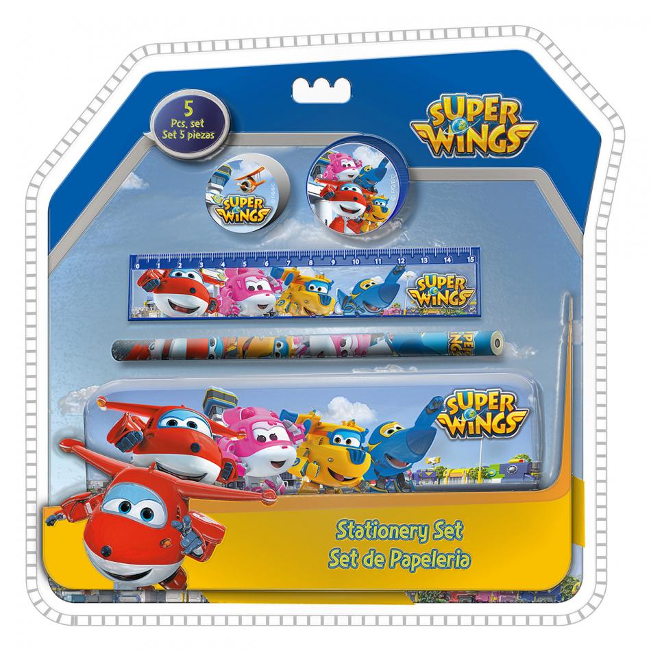 Blíster 5piezas con estuche Clamshell 3D Super Wings