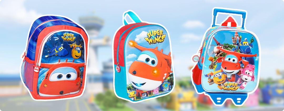 mochilas y carros Super Wings